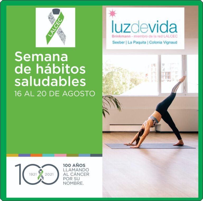 Hasta el 20 de agosto: Semana de Hábitos Saludables