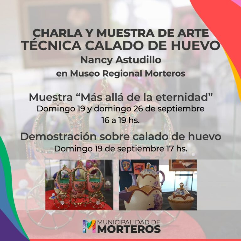 Museo Regional Morteros: Brindan charla y muestra de arte