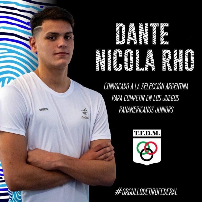 Dante Nicola Rho a los Panamericanos Juniors, en Colombia