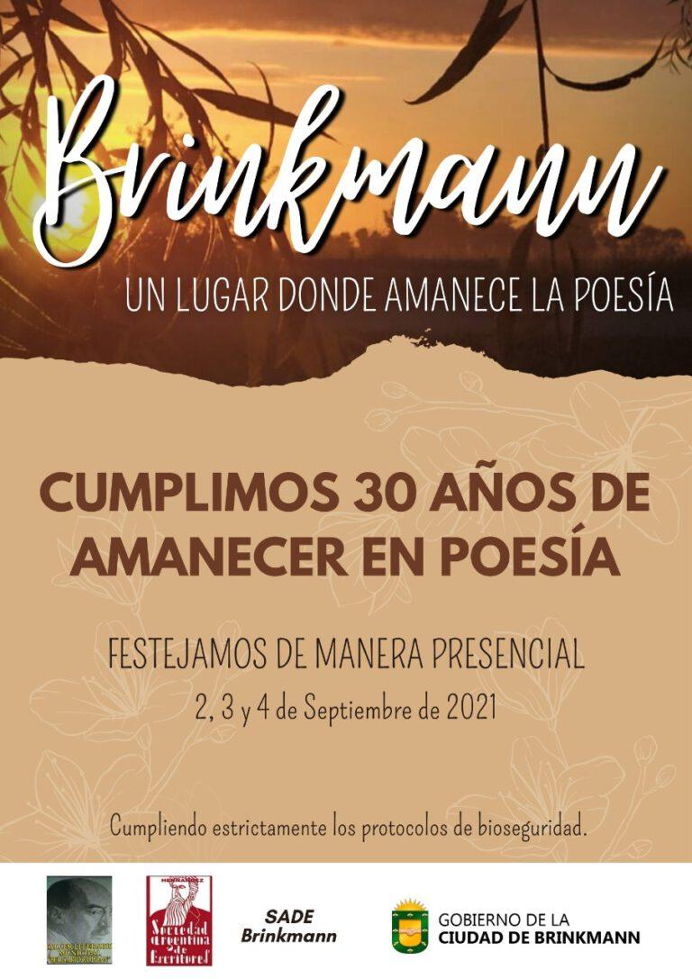 «Brinkmann un lugar donde amanece la Poesía»… Se pone en marcha la edición Nº 30