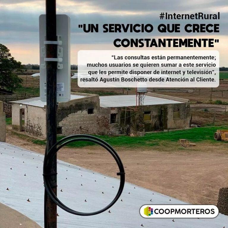 CoopMorteros: Avanzan consultas por Internet Rural
